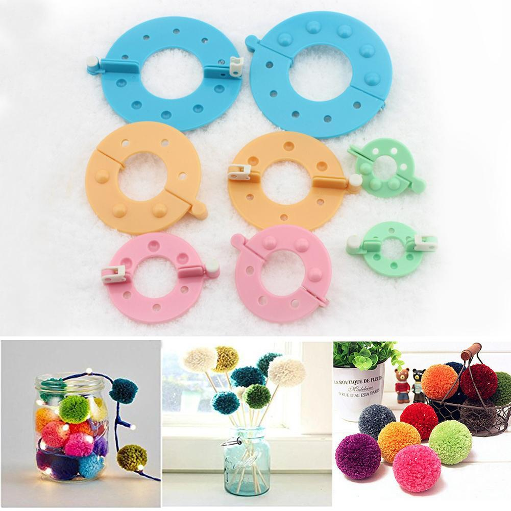 4 Sizes Weaver Needle Craft DIY Wool Ball Pompom Maker Craft Tool Knitting Z9M0