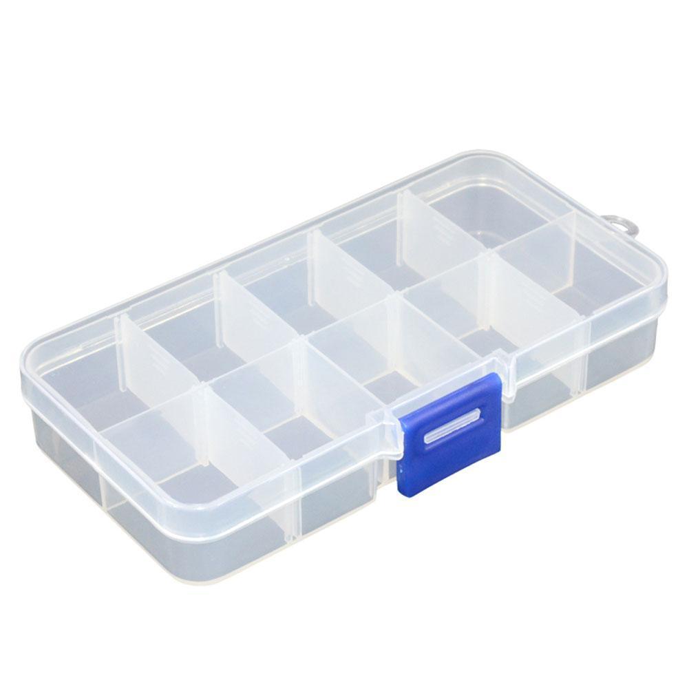 Details about 10 Slots Plastic Small Parts Box Small Screw Bolts Nails Nuts  Box Hardware U5L1