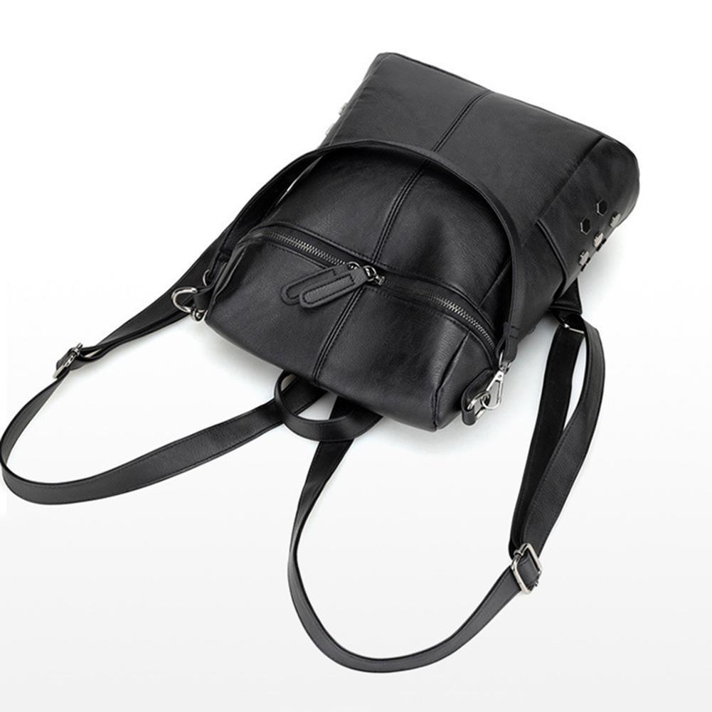 mode frauen leder rucksack f r teenager m dchen tasche weibliche rei verschluss ebay. Black Bedroom Furniture Sets. Home Design Ideas