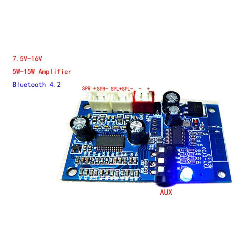 Bluetooth 42 Audio Receiver Digital Amplifier Board 15w Amp Aux Class B By Ne5532 Transistor Preview