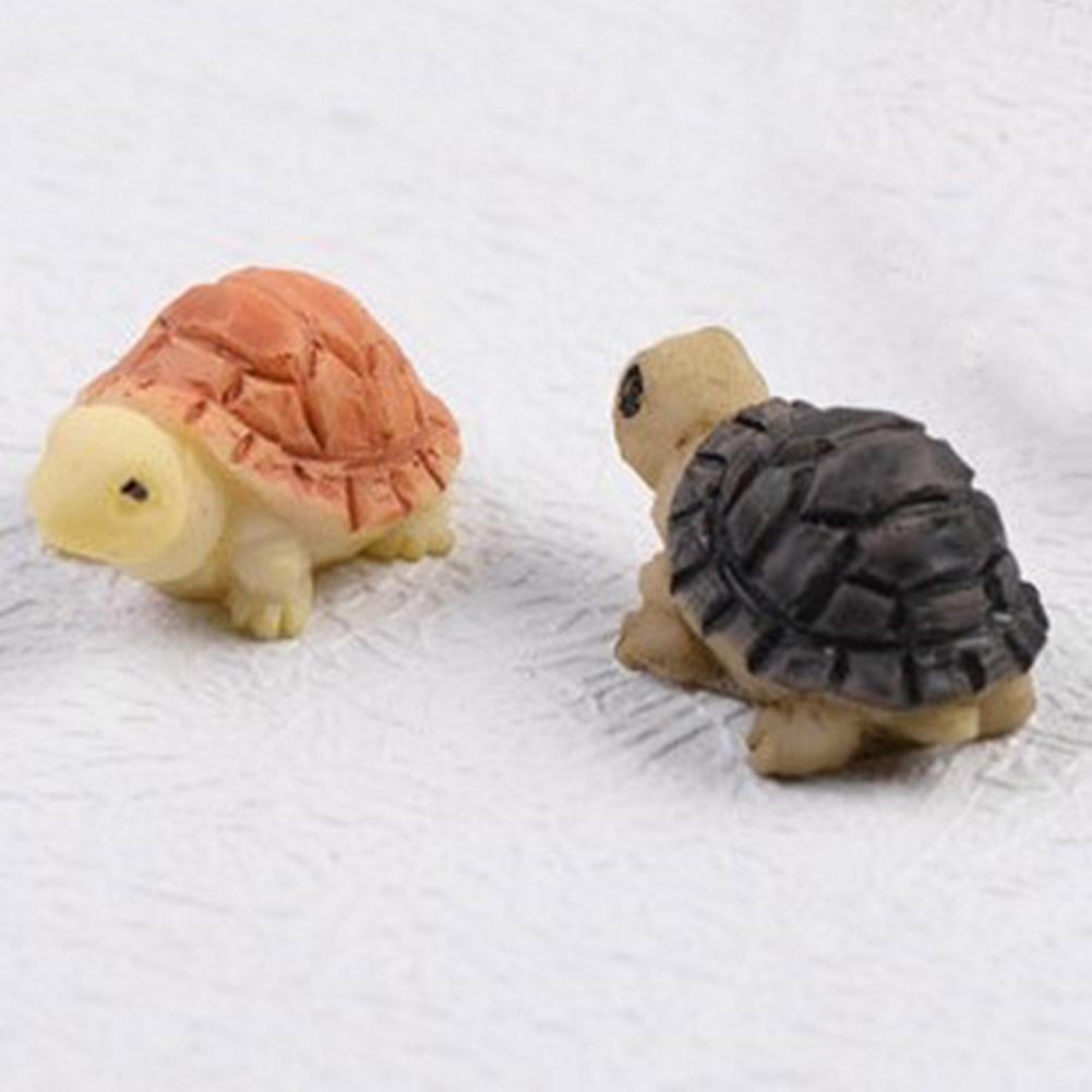 4X Fee Garten Miniaturen Harz Schildkröte Figur Tiere Fantasy-Zubehör E3M3