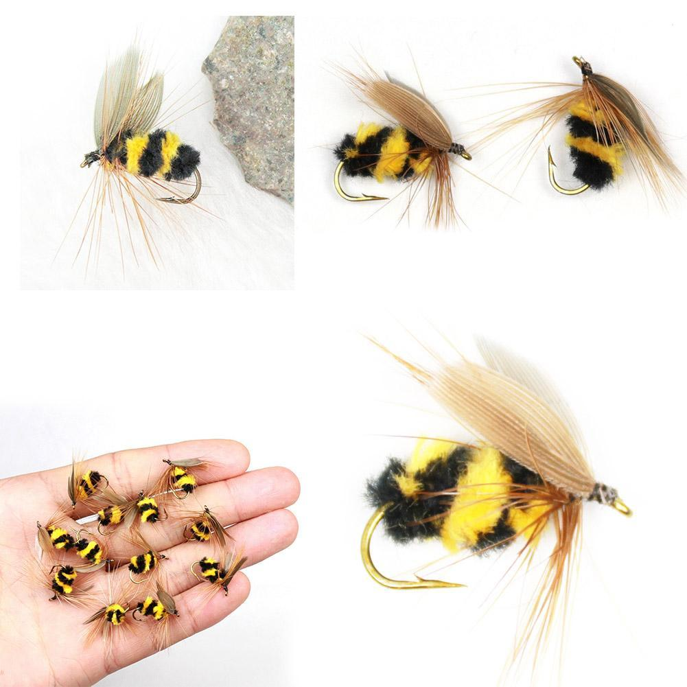 LOT 10 Foam Bumble Bee Nymphe Forelle Fliegen Fliegenfischen Haken*