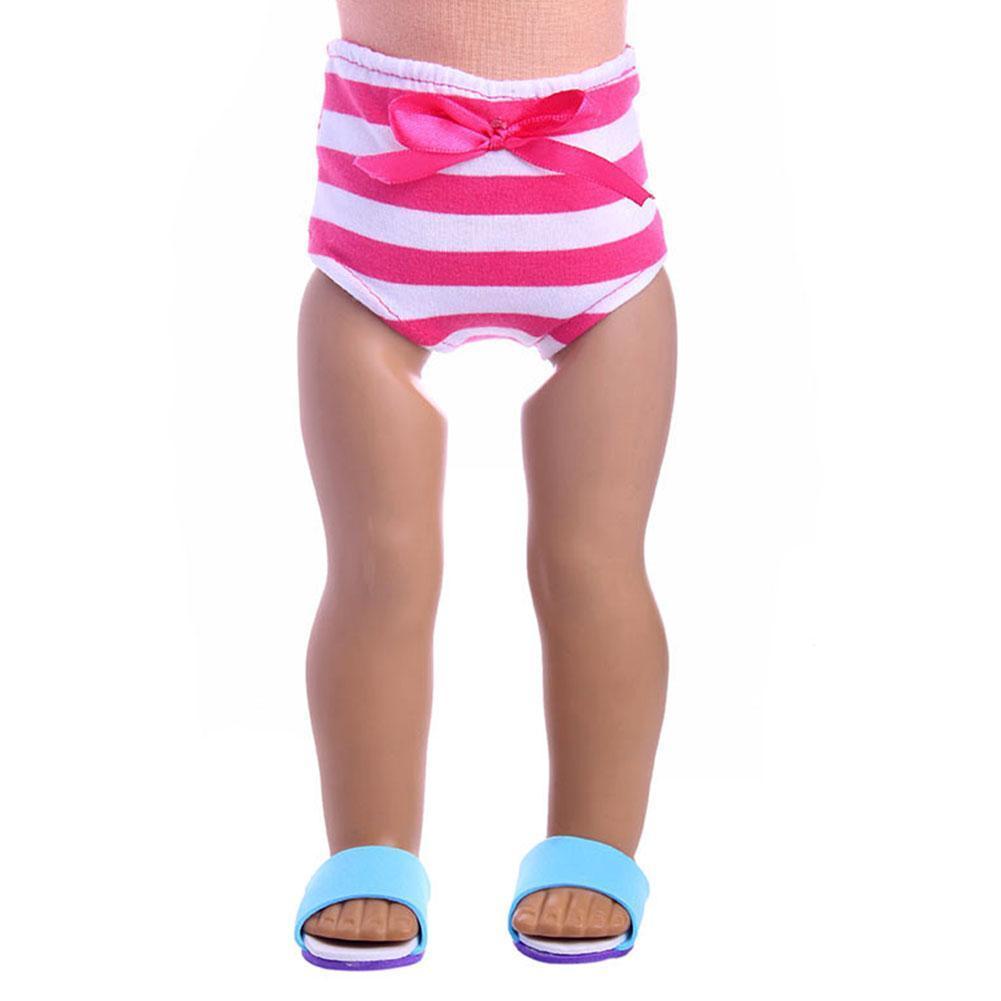 Gestreifte Bogen Puppe Tuch Kleidung Unterwäsche Höschen für 18 Zoll HOT Puppen & Zubehör Babypuppen & Zubehör