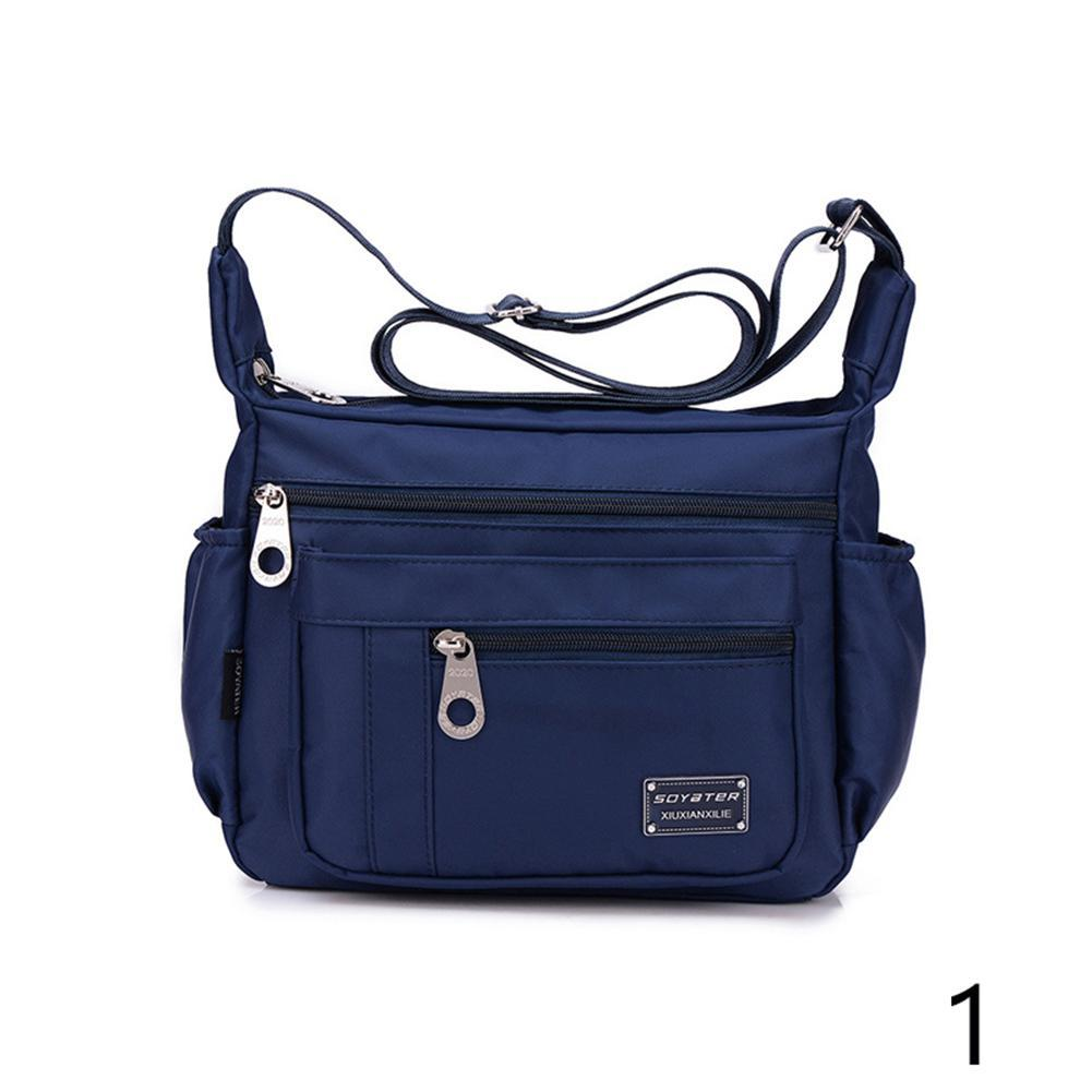 7 Colors Bags Women Fashion Casual Outdoor Solid Color Zippers Shoulder  Bags Waterproof Nylon Bag Messenger Bags Multilayer Bags Outdoor Travel  Sports Bag ... 67d7afe412