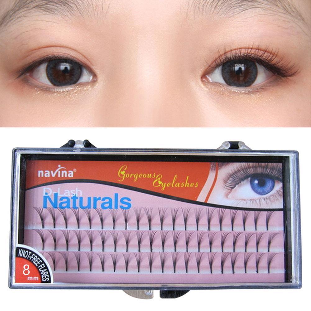 b247e7369c2 Navina Natural Black D-lash Curl Knot 3d W Lash False Eyelash Individual  Eyelashes Extension Fake Eyelash Dense Soft And Natural Size. 8mm 10mm 12mm