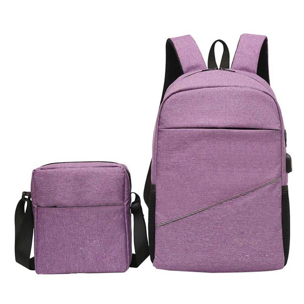 ed4243a6a576 2pcs Set 2018 Hot Sale New Anti Flash Deals - Theft Backpack Single Shoulder  Bags Usb Charging Port Outdoor Shoulder Bag