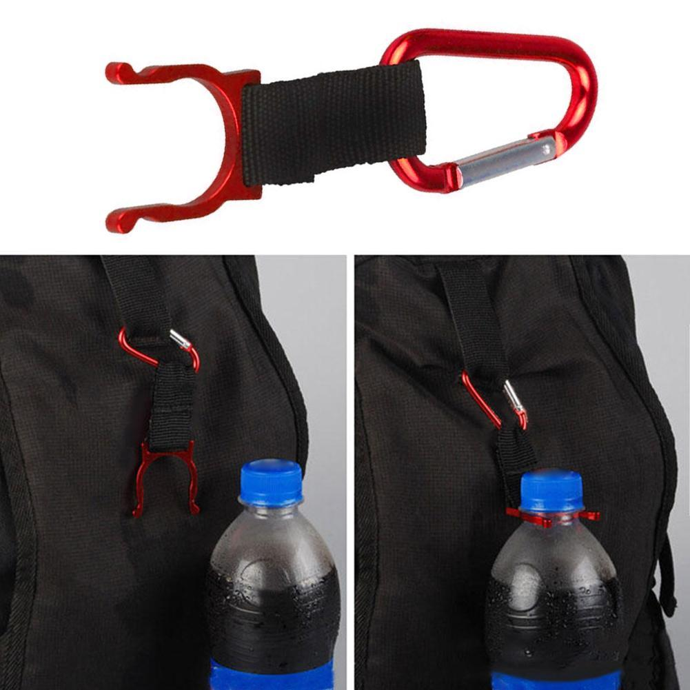 New Aluminum Carabiner Clip Water Bottle Holder Camping Snap Hook Key Chain X7D8