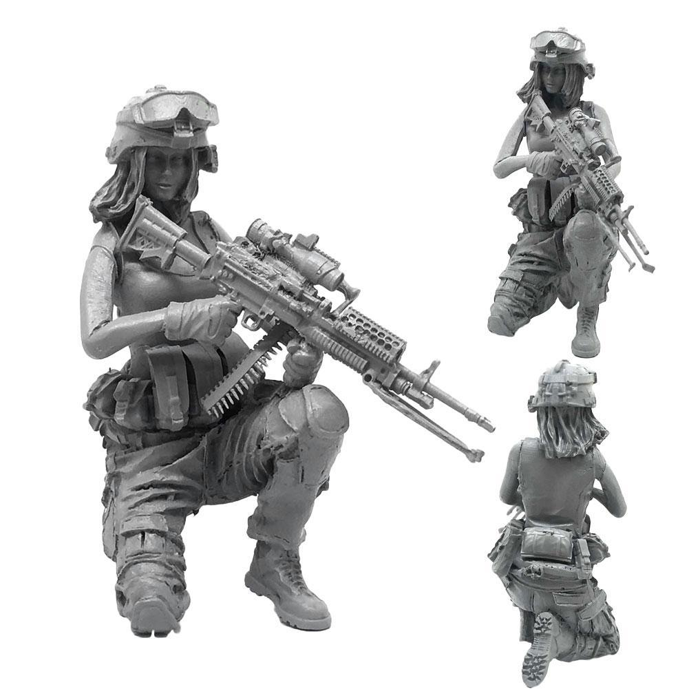 1//35 US Special Forces Skull Hunter Resin Soldier Exquisite Kit TLP-01--09 W4Q3