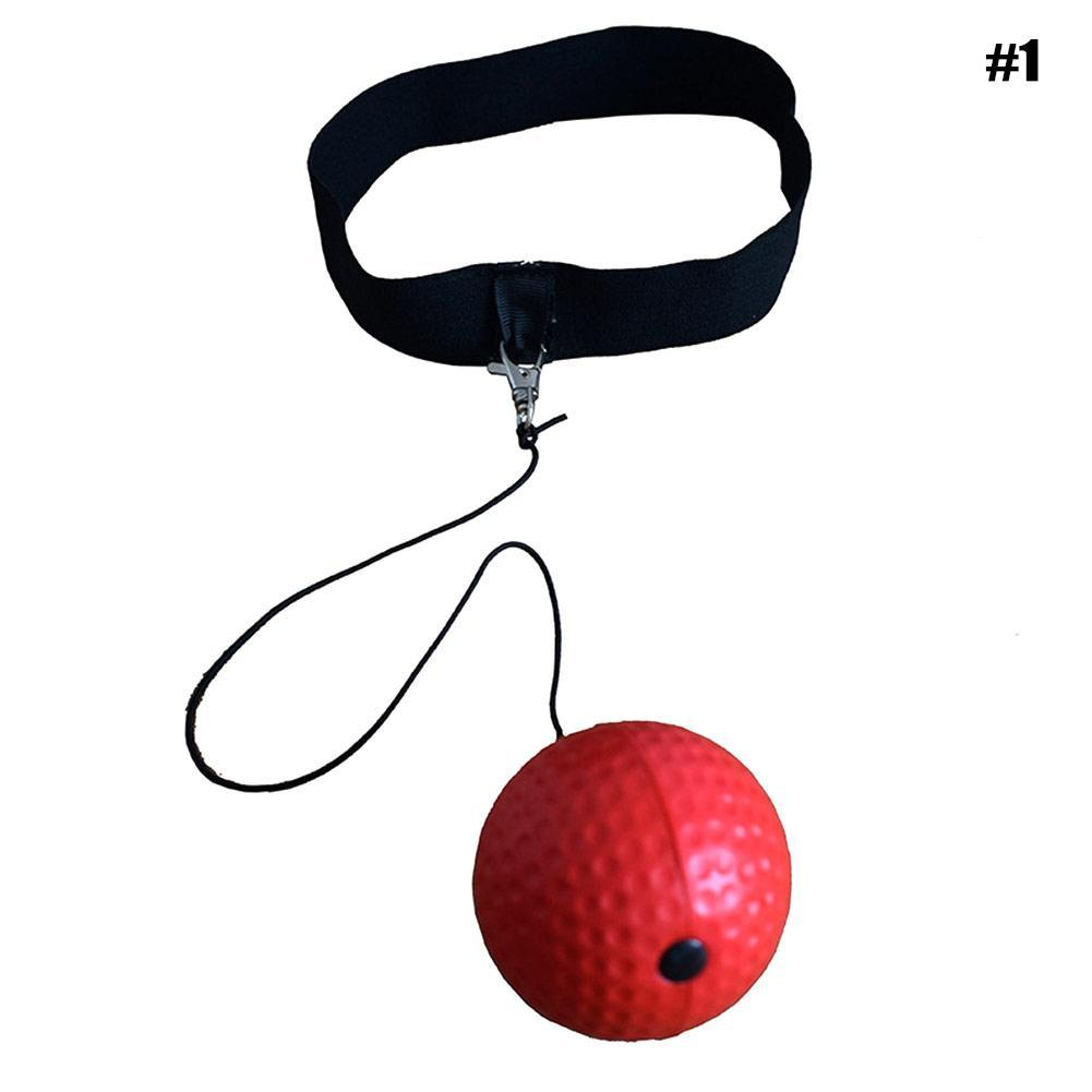 Details about Fight Ball Reflex Boxing Trainer Training Boxer Speed Punch  Head Cap String Ball