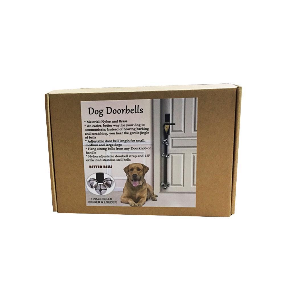 1 X Dog Cat House Training Bell Pet Play Doorbell Rope Bells Toy Ebay