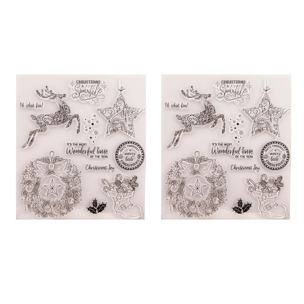 Weihnachten DIY Handbuch Album Tagebuch Silikon Transparent Seal Neu