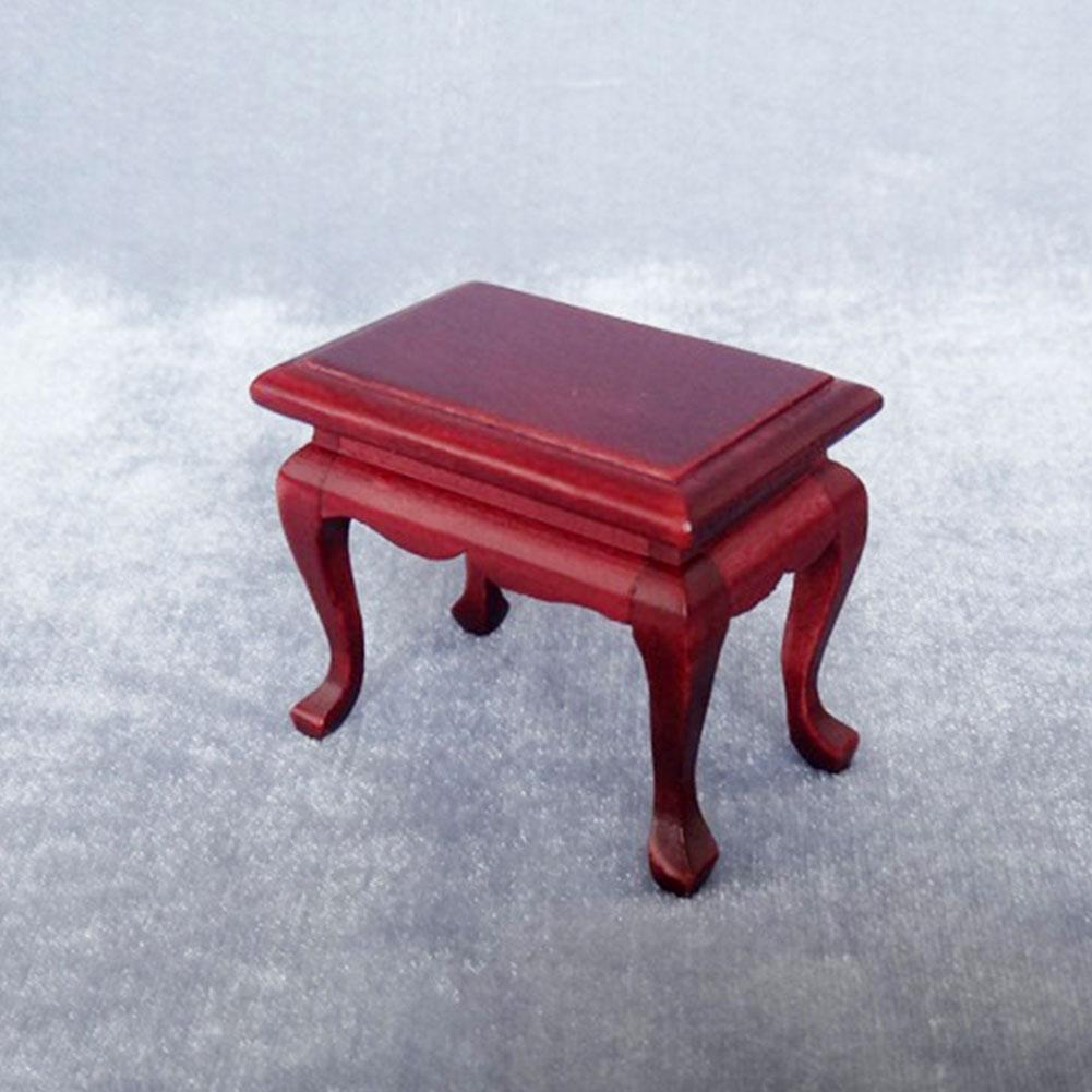 1//12 Dollhouse Miniature Red Wood Beistelltisch Couchtisch Möbel Modell