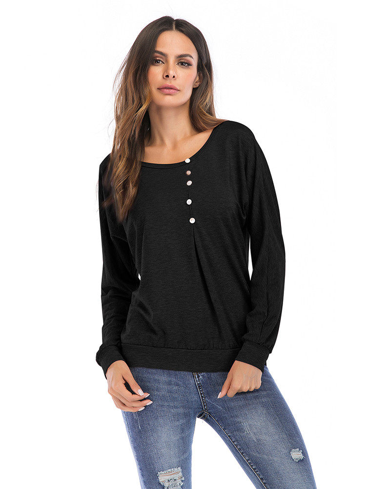 7024ac48712 Women s Casual Autumn Long Sleeve Shirt Blouse Ruffle Button Up ...