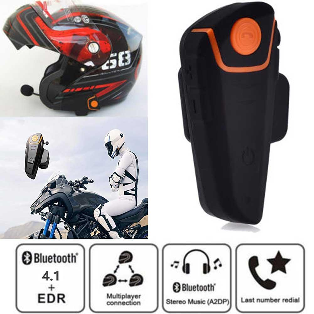 Details about 2019 BT-S2 Bluetooth Motorcycle Helmet Headset MP3 Microphone