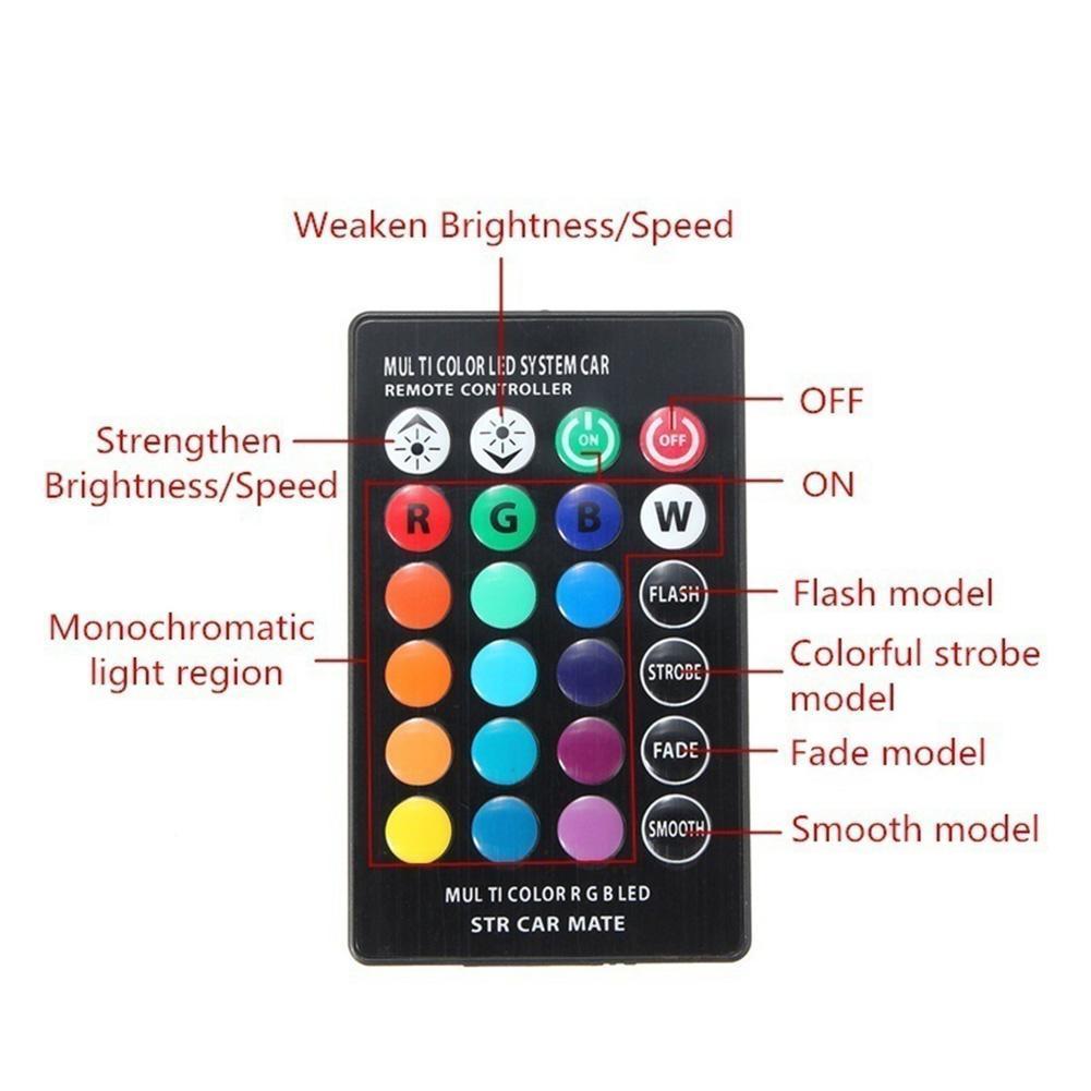 2Pcs//Set T10 RGB 5050 6SMD Car Reading Wedge Light Lamp RGB LED Bulb with Remote Controller Flash//Strobe