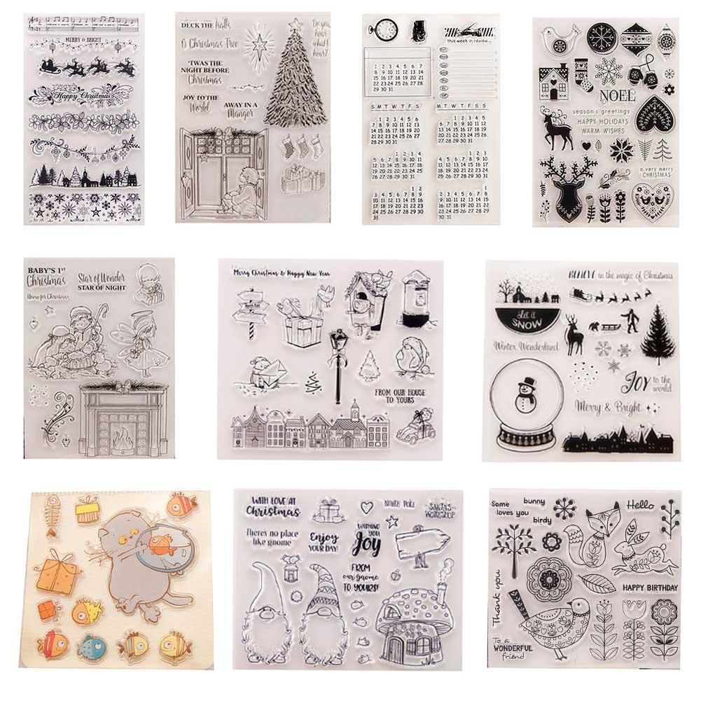 Klarer Silikon Stempel Stanzformen für DIY Scrapbooking Fotoalbum Karte Dekor