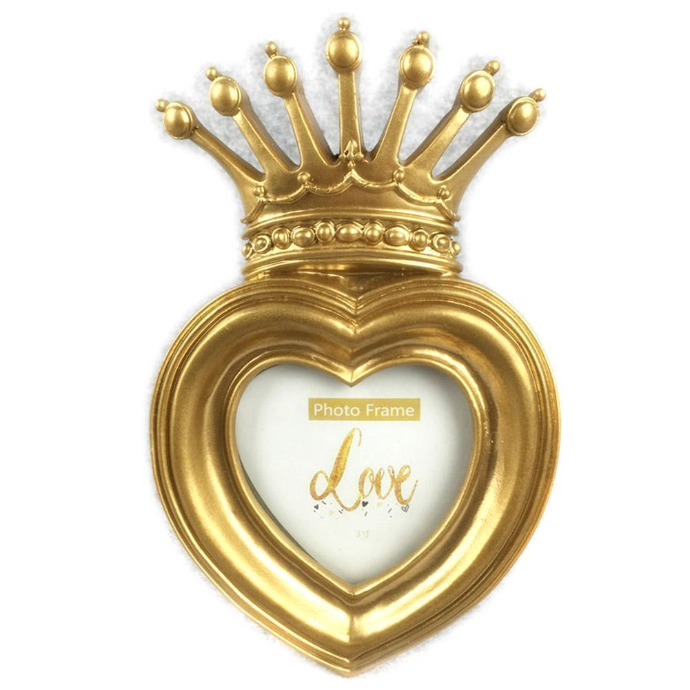 Luxury Baroque Style Gold Crown Decor Creative Resin Picture Desktop ...