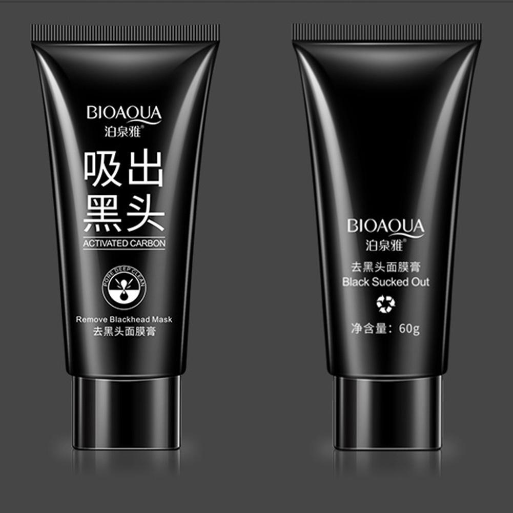 Bioaqua Charcoal Blackhead Remover Peel Off Facial Cleaning Black Activated Carbon Mask Face 60g Ebay