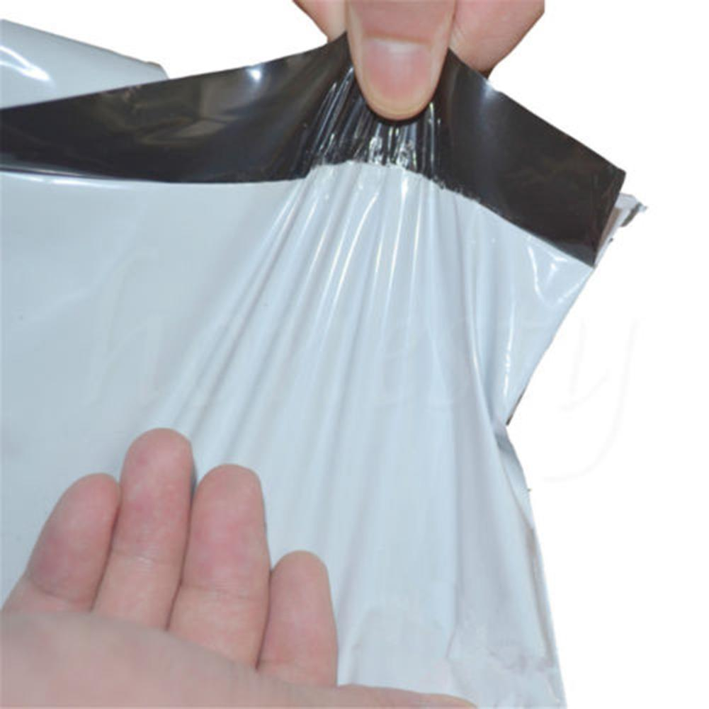 100x Postal Bags Mailers Package Shipping Strong Poly Bag 14cmx26cm Mailing G7L3