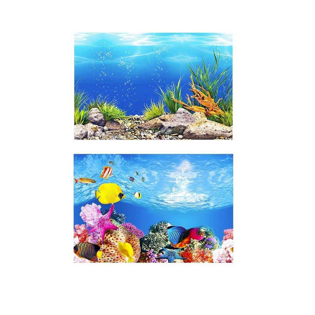 Aquarium Ocean Background Landscape Poster Fish Tank
