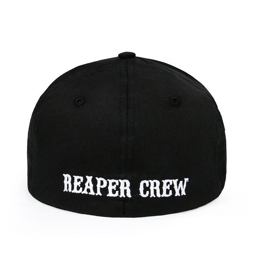 SOA Sons of Anarchy Reaper Crew Fitted Baseball Cap Hat Adult Nett 2019 Sal W3J2