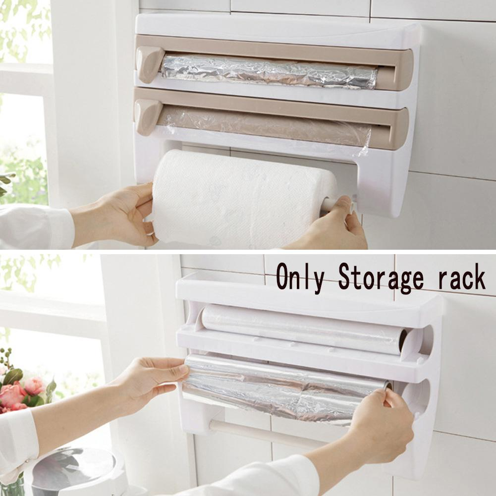 UK/_ GN Toilet Roll Holder Stand Organizer Cabinet Paper Towel Hanger Bathroom R