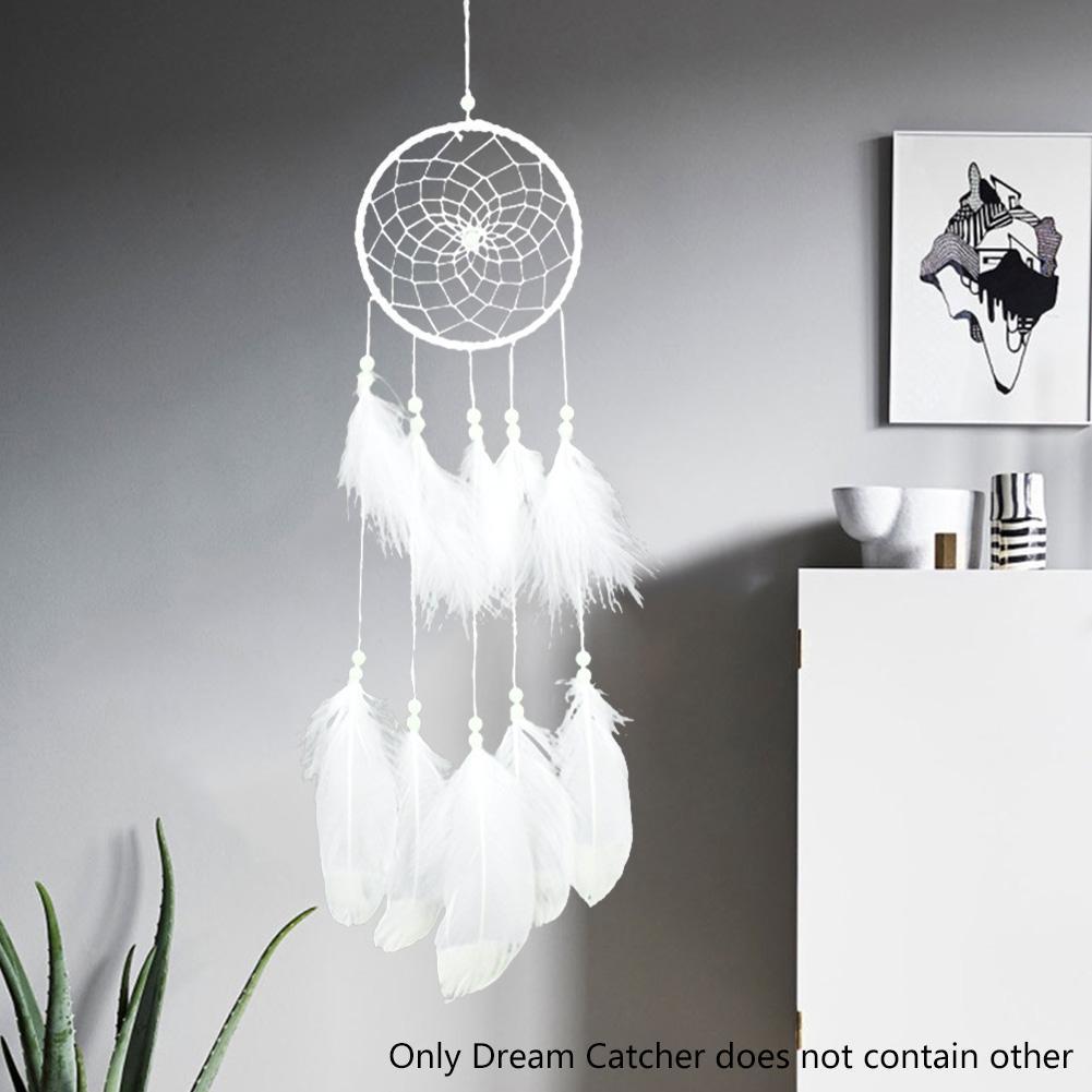 Leuchtende Feder fluoreszierende Dream Catcher Anhänger Home Auto Ornament