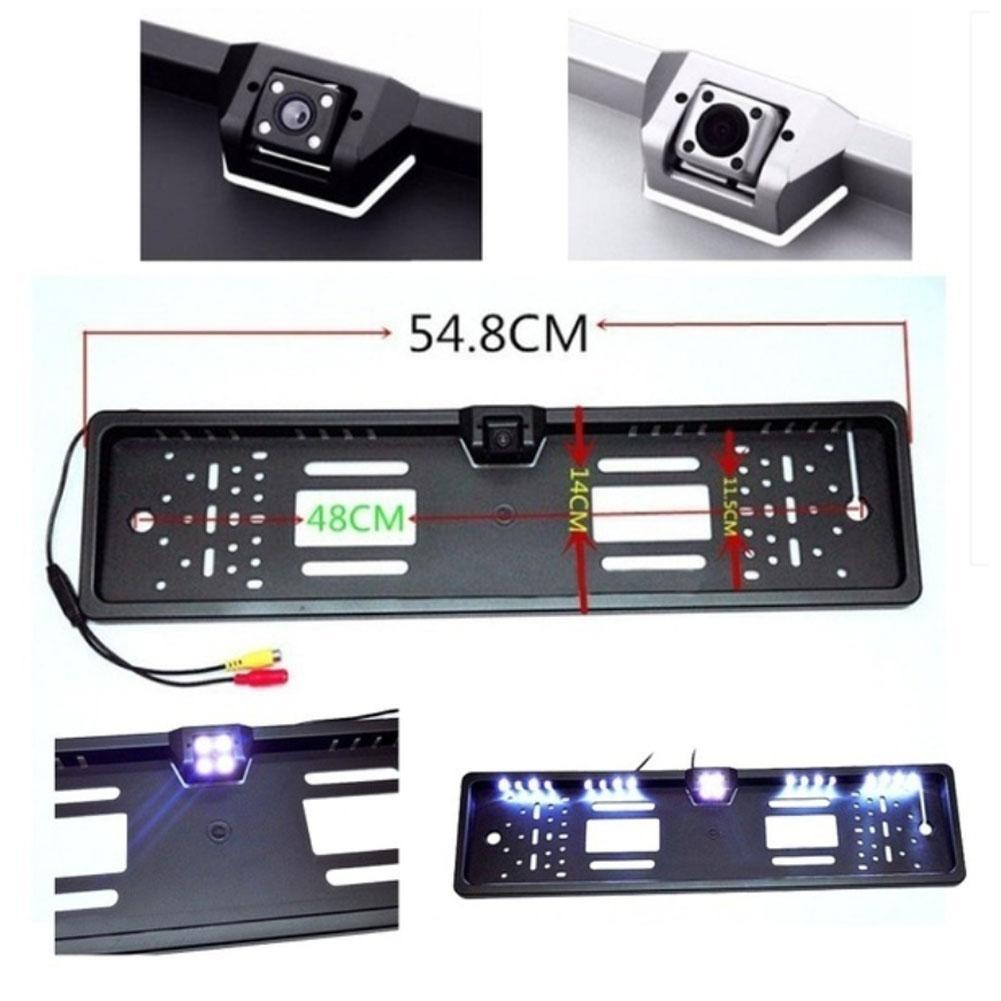 Universal Hd Car Rear View Backup Reverse Camera European License ...
