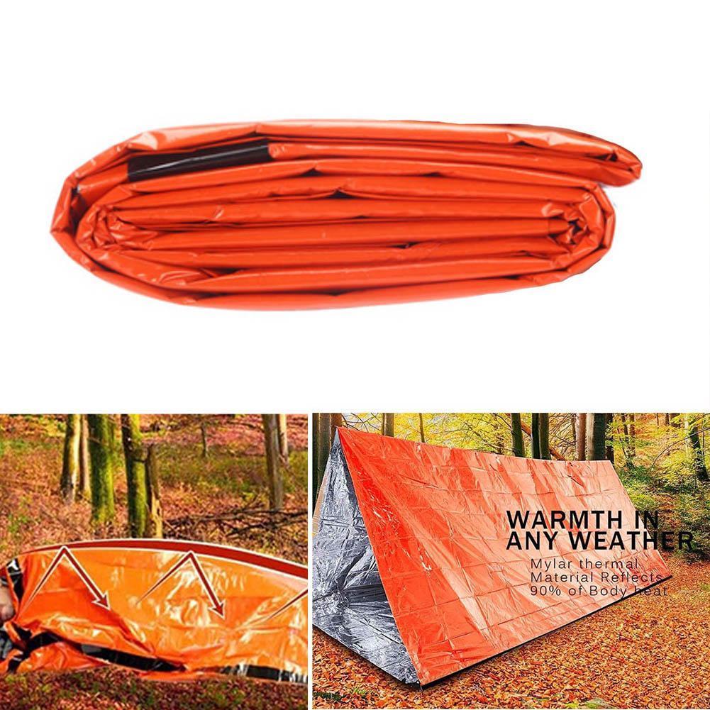 Notfallschlafsack wasserdichtes Überleben Camping Outdoor Reisetasche Verso V7H7