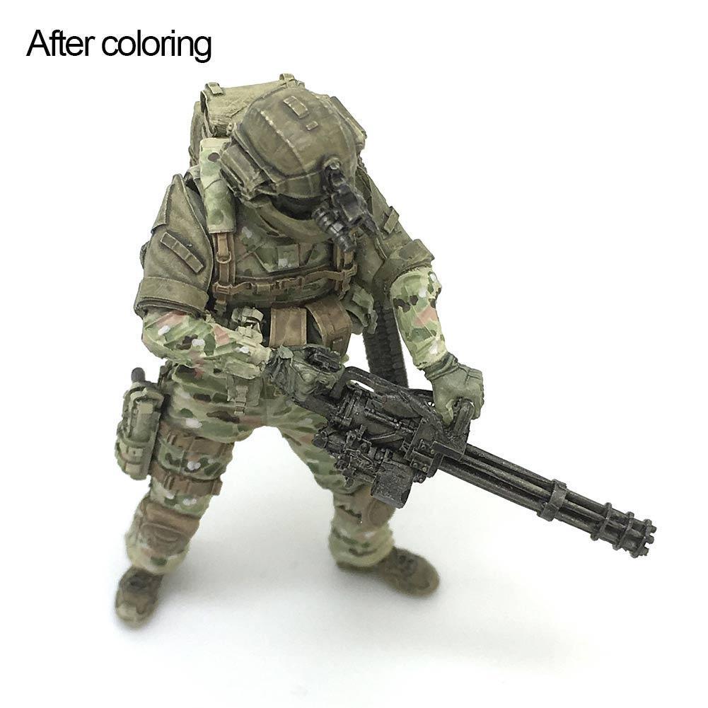 1//35 sitzender weiblicher Soldat SEAL Commando Resin Soldier