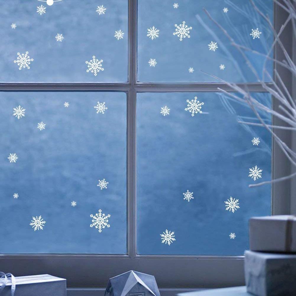 Weihnachtsschneeflo Fensterbilder Sticker Winter Wand Aufkleber ...
