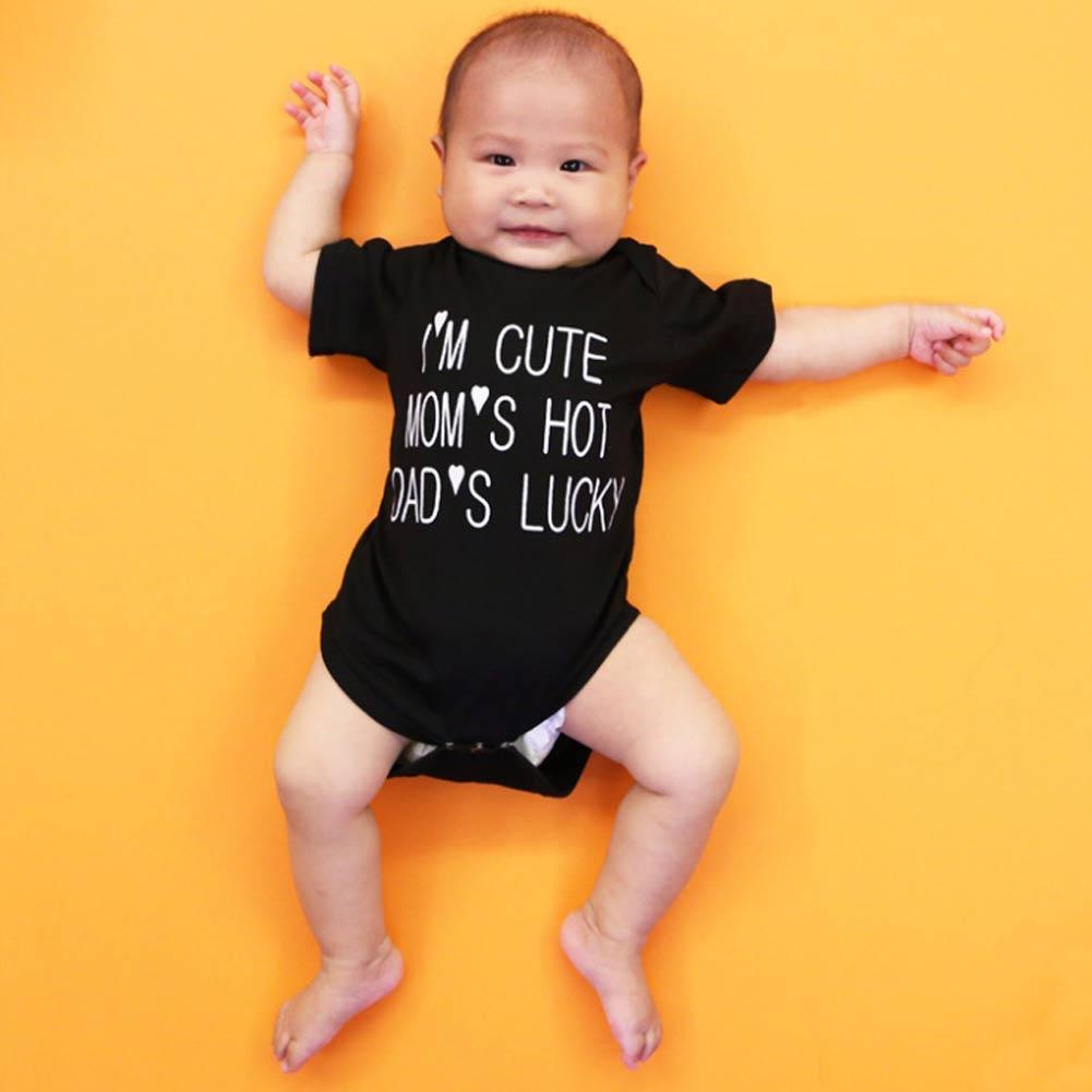 Neugeborenes Baby Jungen Mädchen Bodysuit Strampler Overall Outfits NEU A8Y0