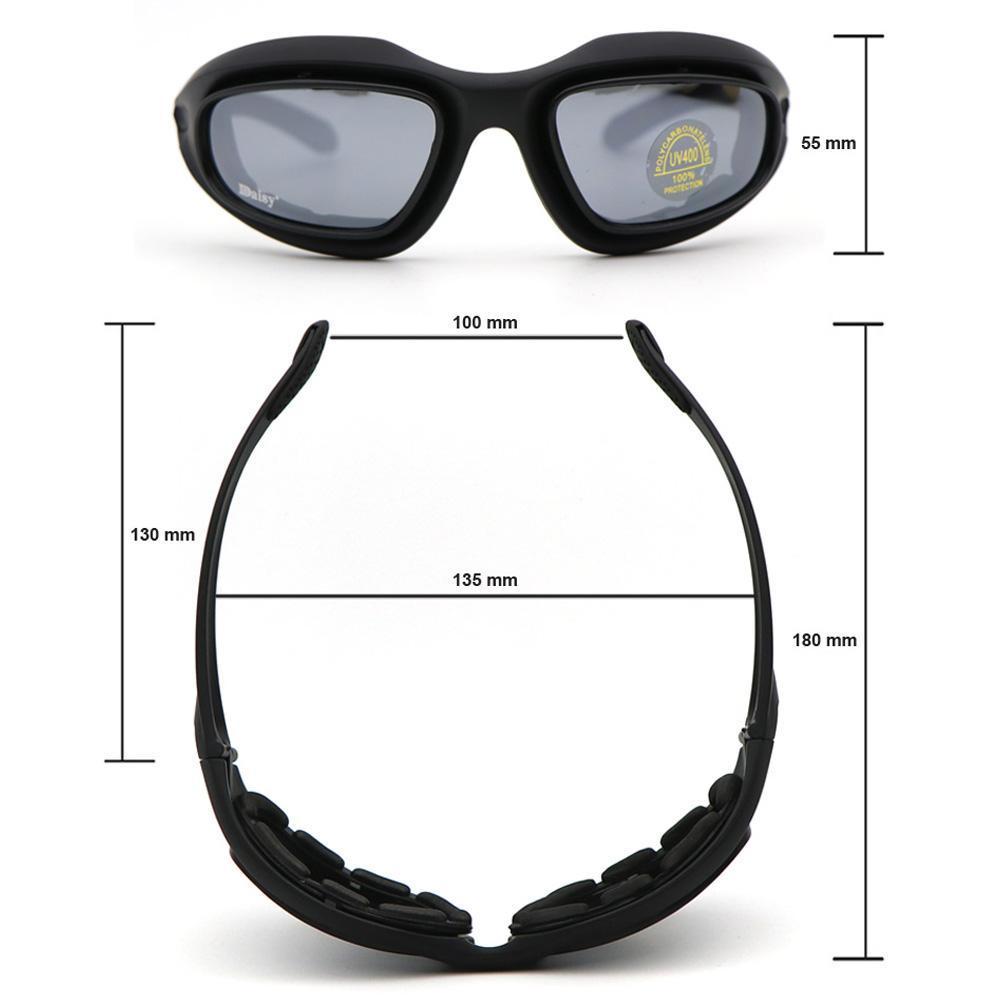 Daisy C5 Military Tactical Goggles Motorrad Reitbrille Sonnenbrille Brill ML