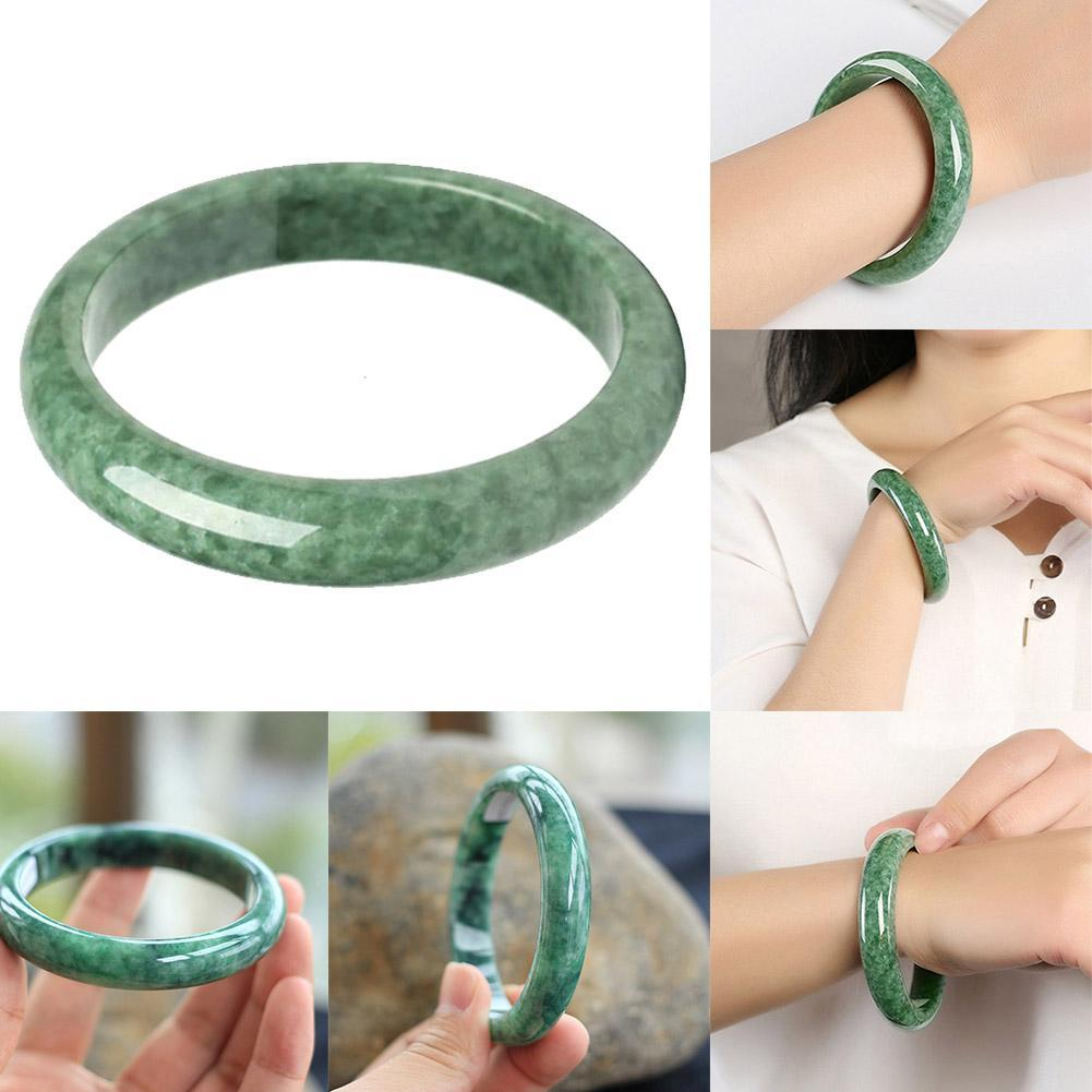 Bracelet en jade de pierres précieuses naturelles en jade vert naturel authent