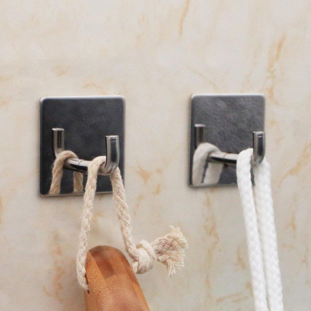 Edelstahl-Haken-Aufhänger-selbstklebender Robe-Handtuchhaken für Badezimmer O3X5