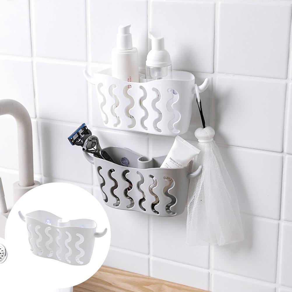 Bathroom Sink With Shelf: Sink Shelf Soap Sponge Drain Rack Kitchen Storage Suction