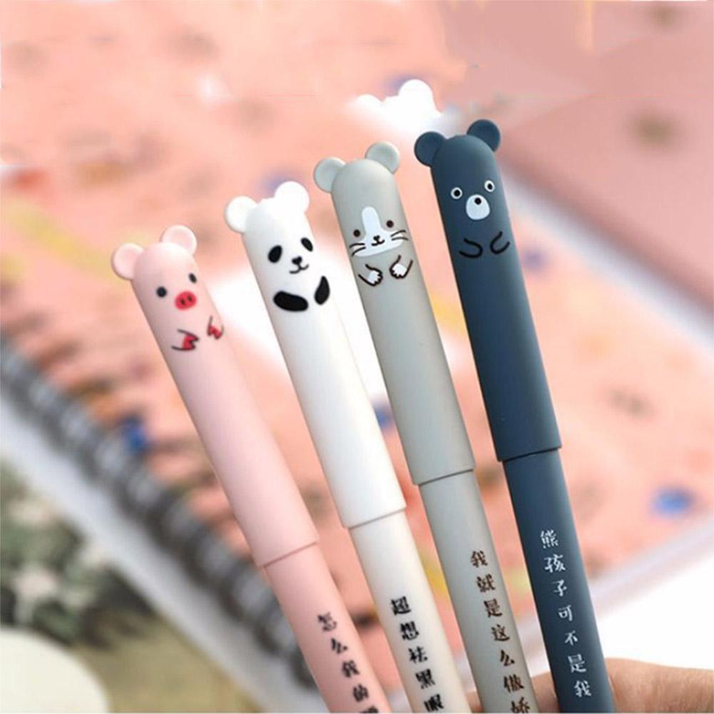 2x cute cartoon sunny doll gel ink pen ballpoint 0.35mm black ink student pens X