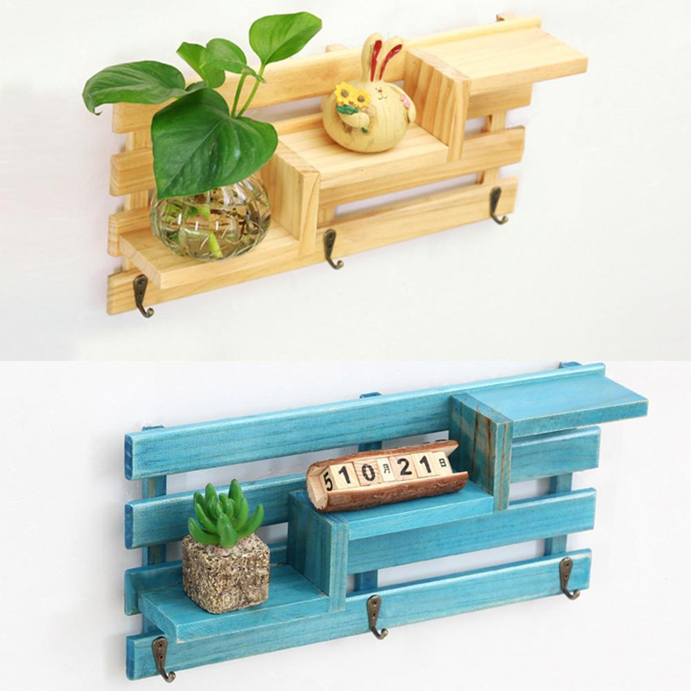 Retro Küchen Wandhalter Badezimmer Regal Aus Holz Storage