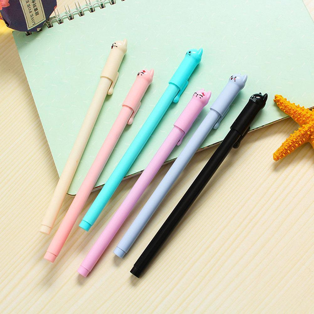 Kawaii Alpaka Schwarz Gel Ink Roller Kugelschreiber School Korean Kid Stude G6S1