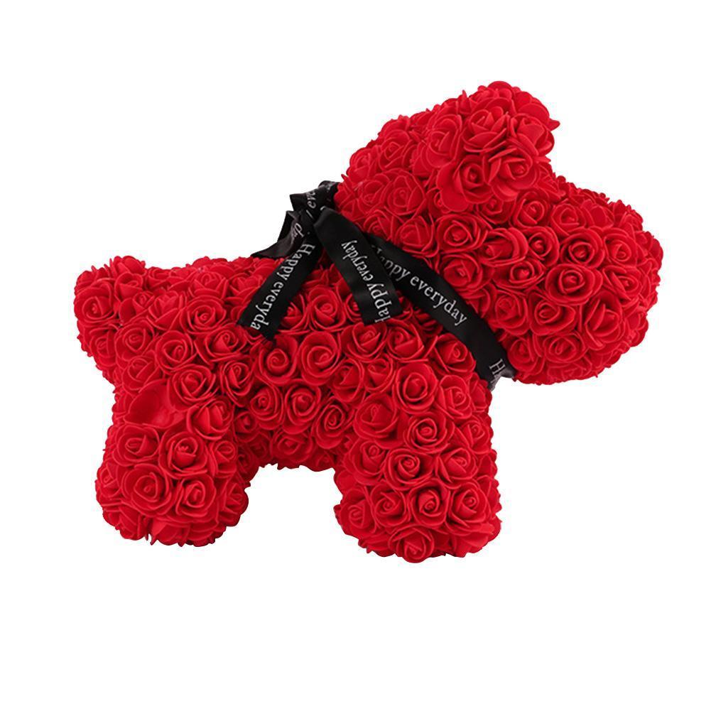 1x Rosenbär Kunsthandwerk 38cm Rosenbär Seife Romantisches Valentinstag Geschenk