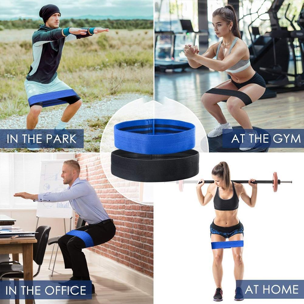 Band Circle Loop Rotation Glute Resistance Thrust Leg Squat Gym Exercise Y5T8
