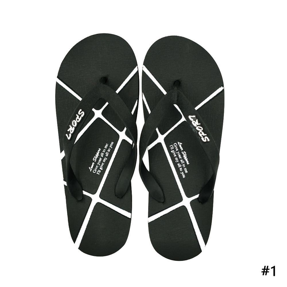 d0a3dd06d9c Couple summer flip flops men s shoes women s shoes beach non-slip Korean  version flat-bottomed flip-flops fashion