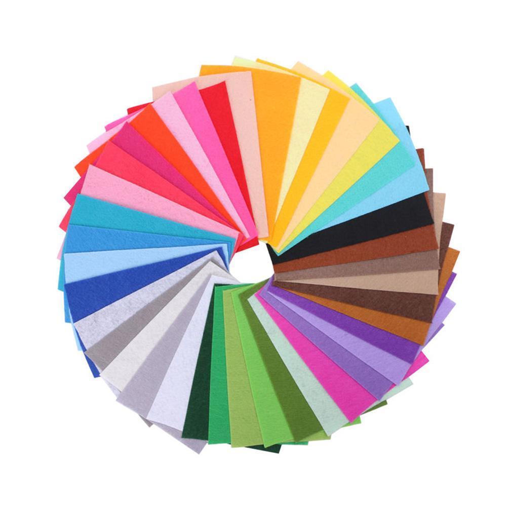 41X Mixed Color Soft Nonwoven Felt Fabric Sheets 15x15cm DIY Craft Patchwork Hot