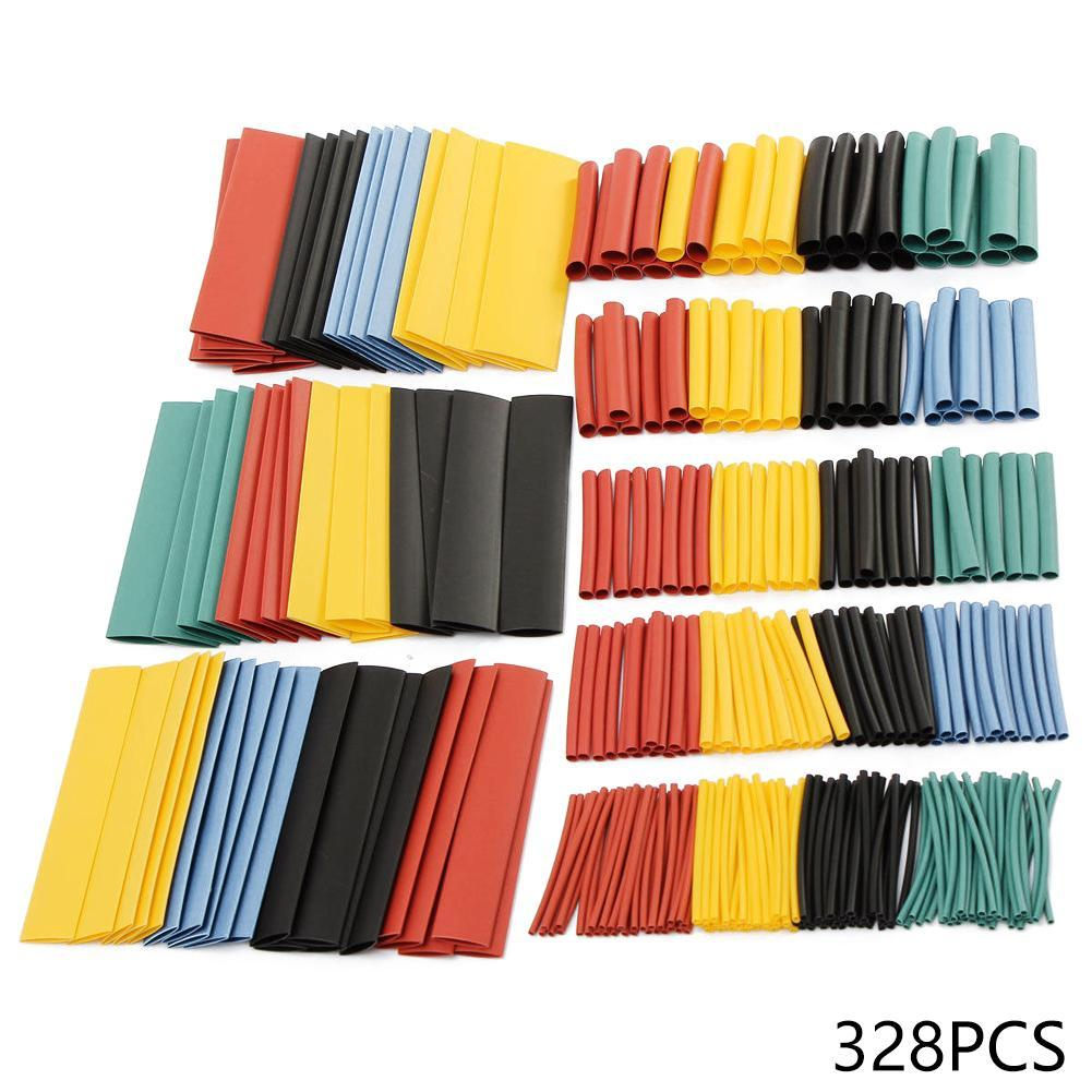 328pcs Cable Heat Shrink Tubing Sleeve Wire Wrap Tube Kit Assortment 2:1 H3P2