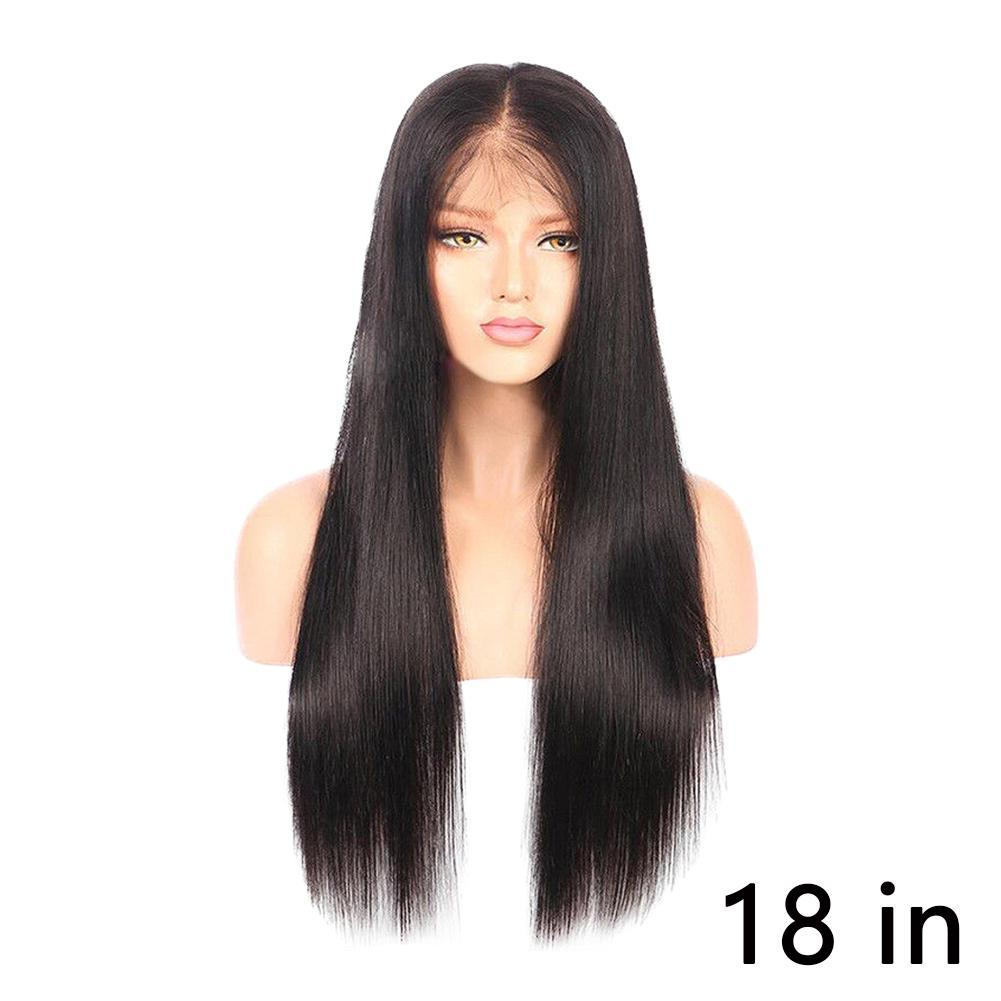 Details about Long Straight Natural Black