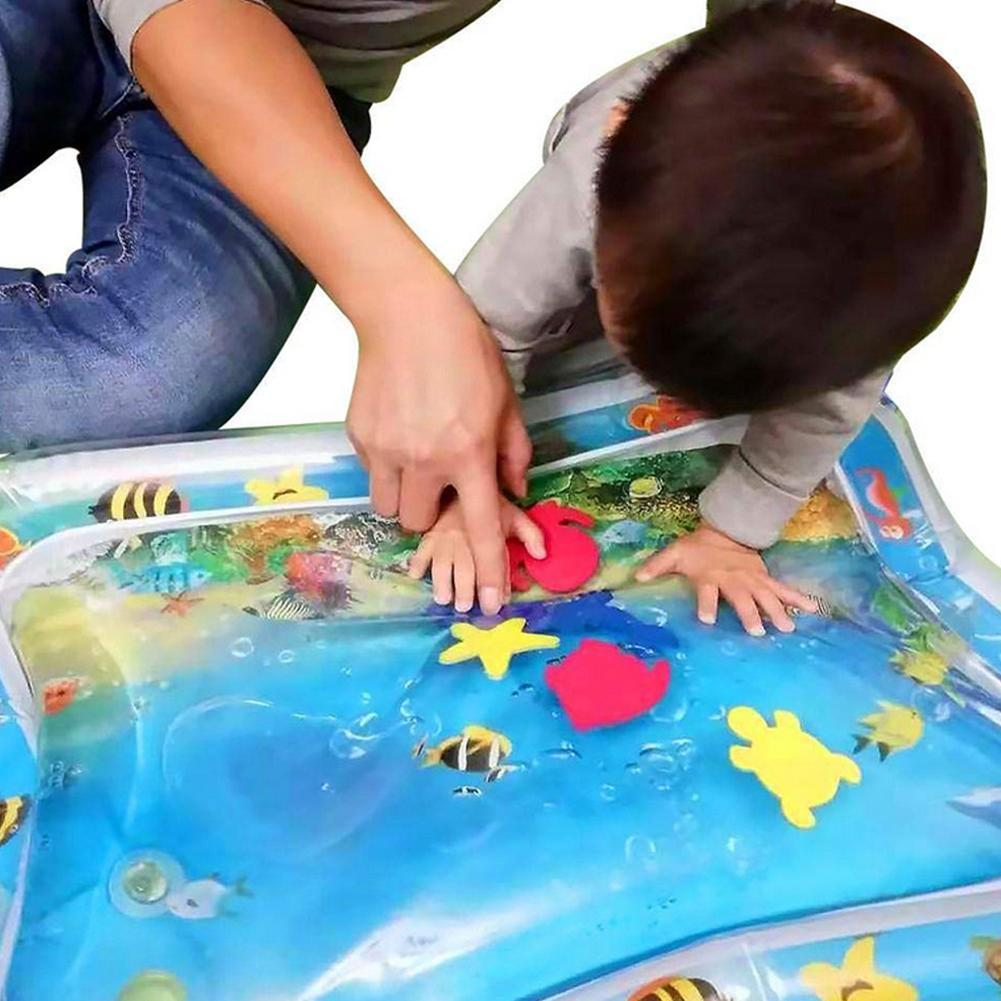 Inflatable Baby Water Mat Upgrade Leakproof Tummy Time Water Playmat for Fun