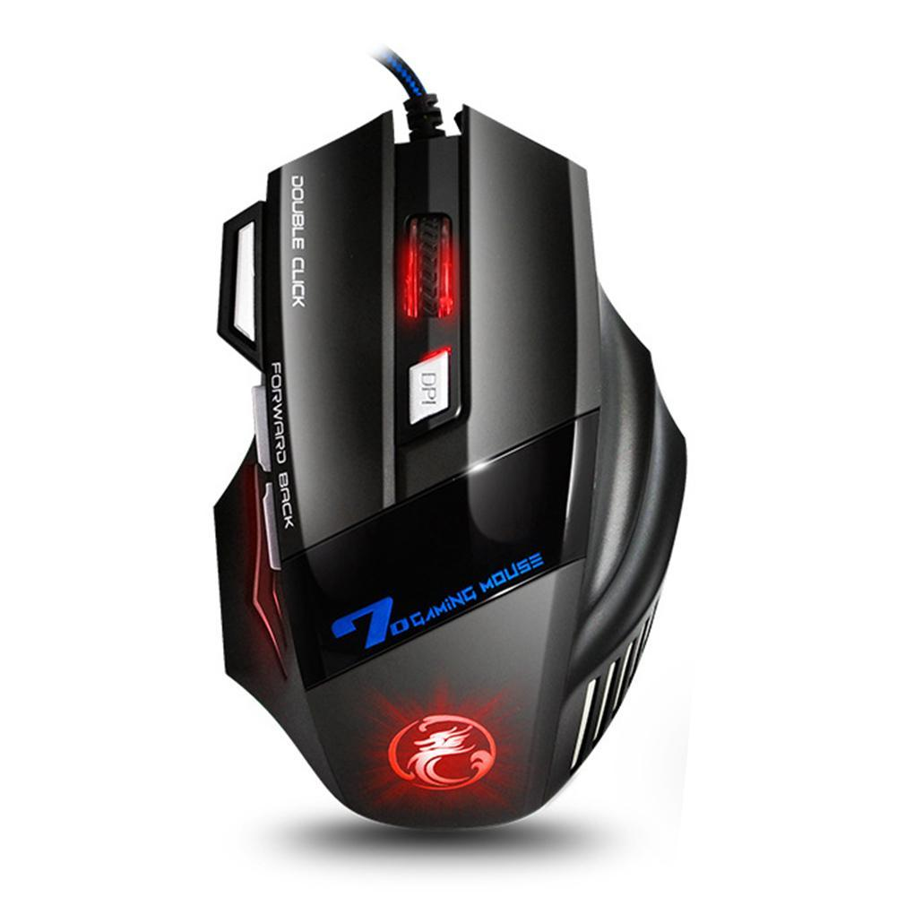 imice x7 品牌新款 廠家批發7鍵遊戲滑鼠炫彩呼吸燈電競遊戲滑鼠