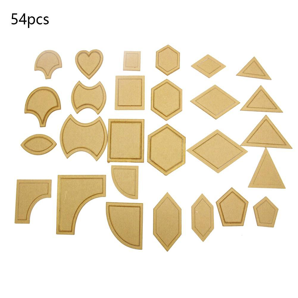 54pcs//set Acrylic Ruler Quilt Patchwork Template Quilting Sewing DIY Tool Craft