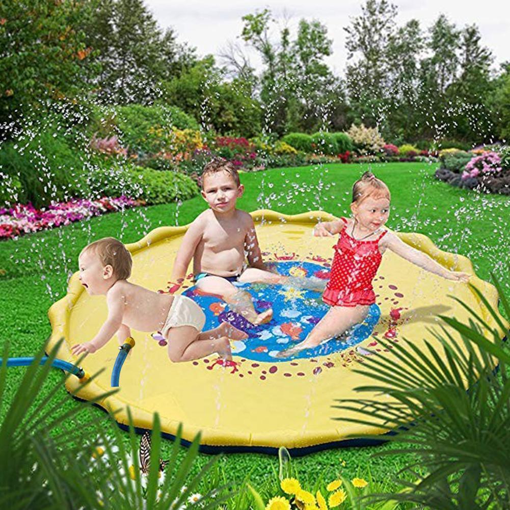 Sonstige Sommer Spiel im Freien Wasser Spiele Strand Mat Lawn Sprinkler aufblasbar