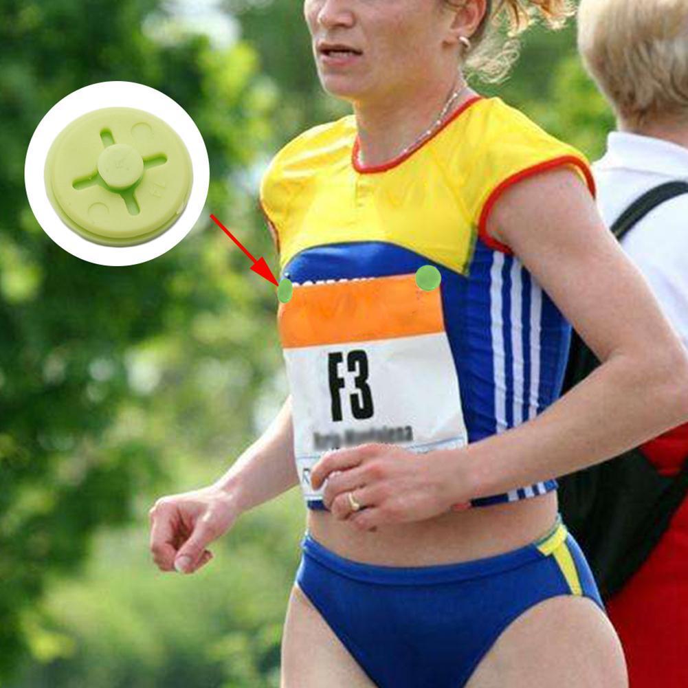 Race Bib Number Fixing Clips Buckles for Marathon Triathlon Running Waist BeJH
